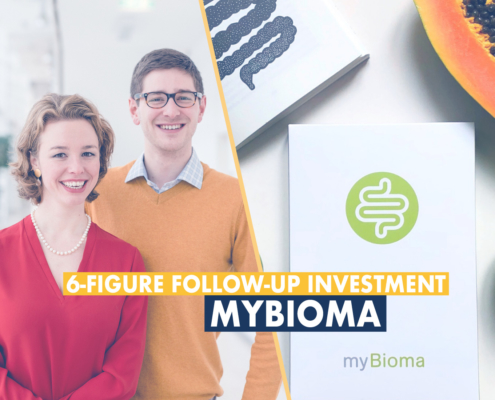 Founders of myBioma after follow-up investment round